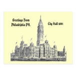 City Hall Philadelphia PA 1891 Post Cards