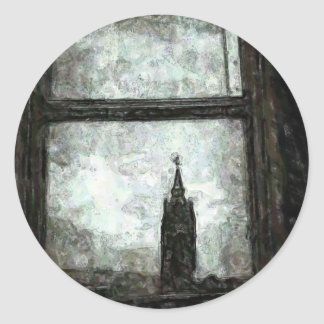 City Hall Reflections Classic Round Sticker