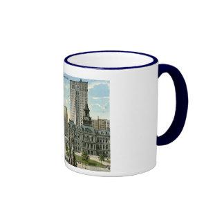 City Hall Square, Detroit MI 1915 Vintage Coffee Mug