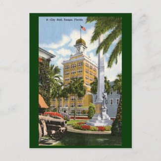 City Hall, Tampa, Florida Vintage postcard