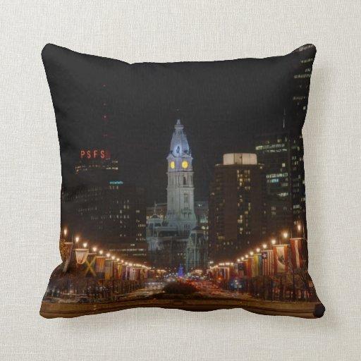 City Hall Throw Pillows