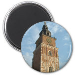 City Hall Tower 2 Inch Round Magnet