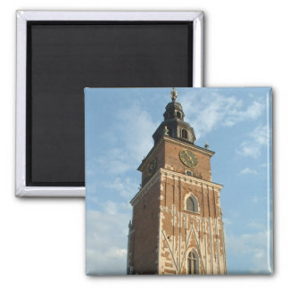 City Hall Tower 2 Inch Square Magnet