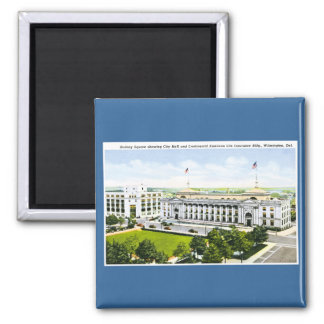 City Hall, Wilmington Delaware 2 Inch Square Magnet