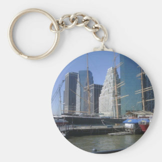 City Harbor Boats Key Chain