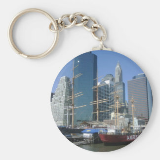 City Harbor Boats Key Chains