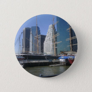City Harbor Boats Pinback Button