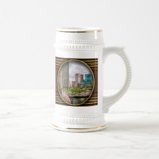 City - Harbor Place - Baltimore World Trade Center Beer Stein