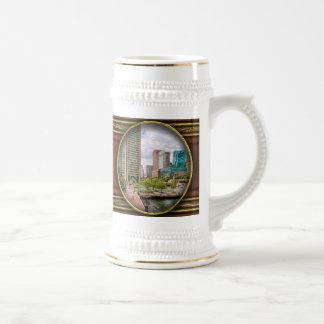 City - Harbor Place - Baltimore World Trade Center Mugs