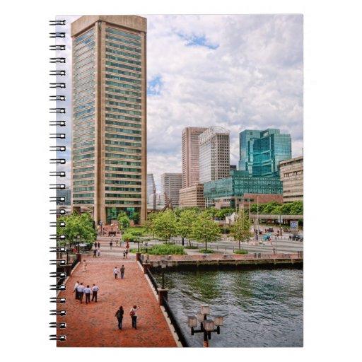 City - Harbor Place - Baltimore World Trade Center Spiral Notebooks