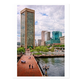 City - Harbor Place - Baltimore World Trade Center Postcard