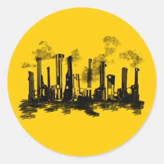 City Heat Classic Round Sticker