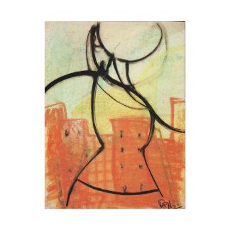 City Heat, Pastel on canvas print, Brad Hines Canvas Print