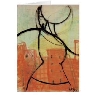 """City Heat"" Pastel Painting Notecard, Brad Hines Card"