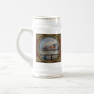City - Hoboken, NJ - Fishing - The good life Beer Stein
