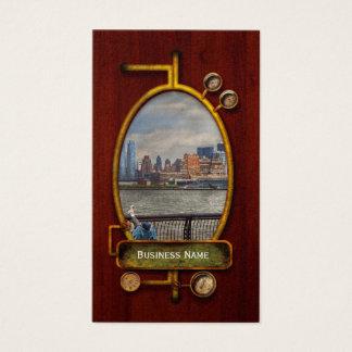 City - Hoboken, NJ - Fishing - The good life Business Card
