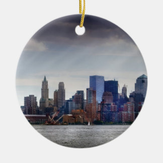 City - Hoboken, NJ - Sept 2007 - New York City - P Ceramic Ornament