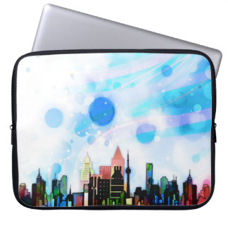 City in colours computer sleeve
