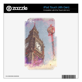 City in Nebula #purple iPod Touch 4G Decal