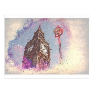 City in Nebula #purple Postcard
