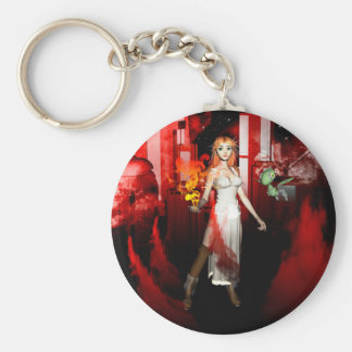 City in the night key chains