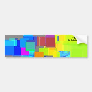 """""""City in the Sky"""" Geometric Art Bumper Sticker"""
