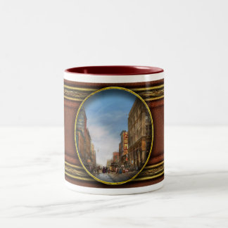 City - Kansas City MO Commerce from the past 1900 Two-Tone Coffee Mug