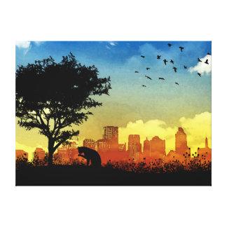 City Kitty Canvas Print
