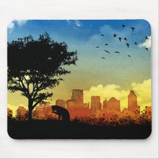 City Kitty Mouse Pad