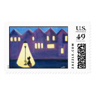 City Kitty Postage Stamp