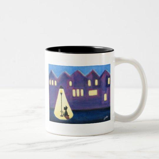 City Kitty Two-Tone Coffee Mug