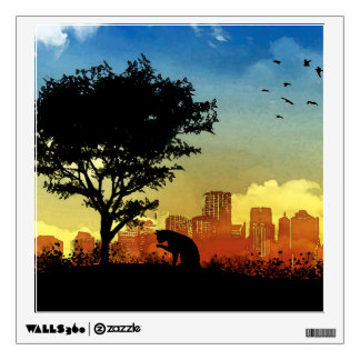City Kitty Wall Decal