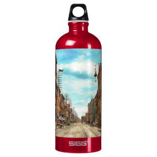 City - Knoxville TN - Gay Street 1903 Aluminum Water Bottle