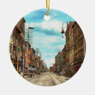 City - Knoxville TN - Gay Street 1903 Ceramic Ornament