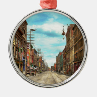 City - Knoxville TN - Gay Street 1903 Metal Ornament