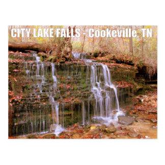 City Lake Falls - Cookeville, TN Postcard