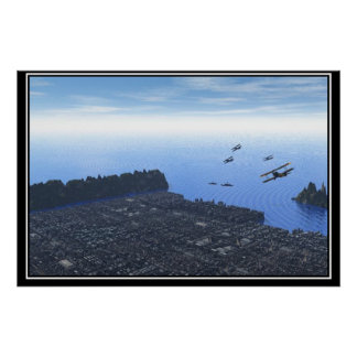 City Landscape from the Air Poster