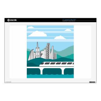 """City landscape Train bridge Skins For 17"""" Laptops"""