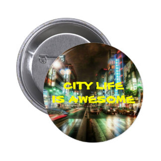 CITY LIFE COLLECTION PINBACK BUTTONS