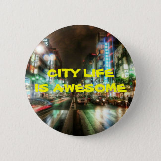 CITY LIFE COLLECTION PINBACK BUTTON