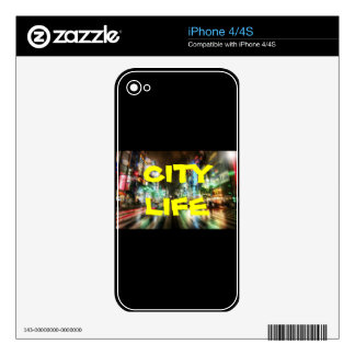 CITY LIFE COLLECTION SKIN FOR iPhone 4S