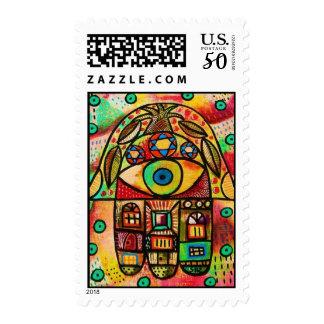 City Life Hamsa Stamp