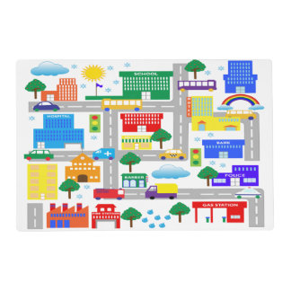 City Life Laminated Placemat