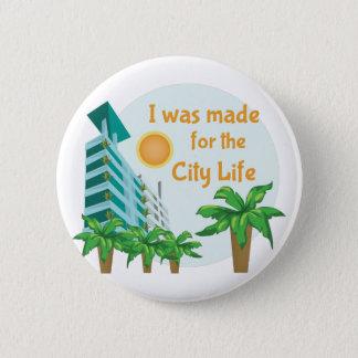 City Life Pinback Button