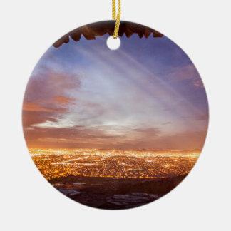 City light ceramic ornament