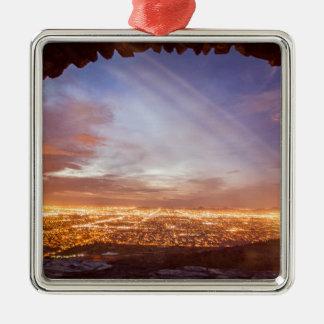 City light metal ornament