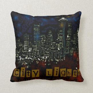 city lights American MoJo Pillow