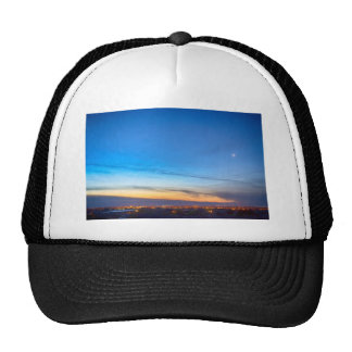 City Lights and a Venus Morning Sky Trucker Hats