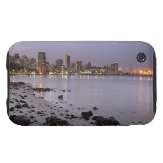 City lights at twilight with debris strewn beach tough iPhone 3 cases
