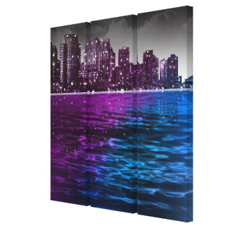 City Lights Stretched Canvas Print